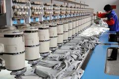 Textilmaschine Stockfoto