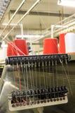 Textilmaschinerie Stockbild