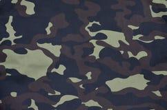 Textilmodell av militärt kamouflagetyg Royaltyfri Bild