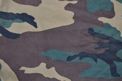 Textilmodell av militärt kamouflagetyg Fotografering för Bildbyråer