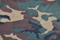 Textilmodell av militärt kamouflagetyg Royaltyfria Foton