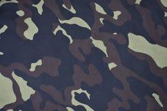 Textilmodell av militärt kamouflagetyg Royaltyfri Fotografi