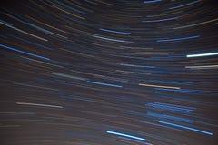Textilmodell av startrails i sydlig natt Royaltyfria Bilder
