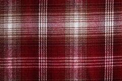 Textilmodell för röd och vit fyrkant Arkivfoton
