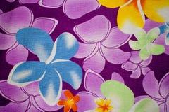Textilmodell med blom- Arkivbild