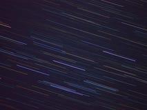 Textilmodellen av stjärnan skuggar i natthimlen Arkivfoto