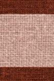 Textiloberfläche, Gewebebild, Kaffeesegeltuch, Farbmaterial, Retro--redete Hintergrund an Lizenzfreies Stockfoto