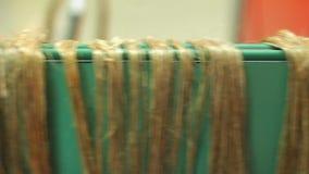 Textilproduktionslinje Linje för linfabrikstransportör kvinnor för textil för lager för insida för industri för klädattrappkvinnl arkivfilmer