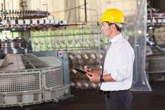 Textilproduktionsmanager Lizenzfreie Stockfotos