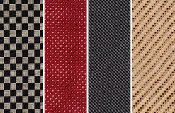 Textilprovkartor royaltyfri foto