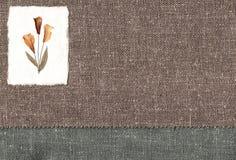 Textilsegeltuch mit Tulpen. Lizenzfreie Stockfotos