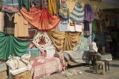 Textilställning fotografering för bildbyråer