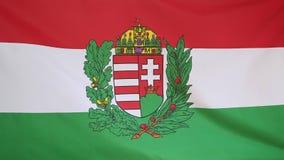 Textilstaatsflagge von Ungarn stock abbildung