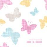 Textilstrukturierte bunte Schmetterlings-Rahmenecke Lizenzfreies Stockfoto