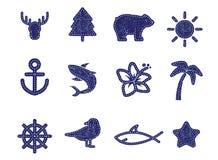 Textilsymboler Royaltyfri Bild