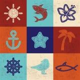 Textilsymboler Royaltyfri Foto