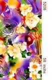Textiltryckdesign Royaltyfri Foto