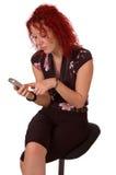 texting的妇女 免版税库存照片