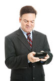 texting的生意人 免版税图库摄影