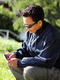 Texting Photos stock