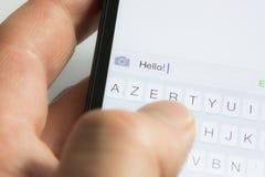 Texting Stock Afbeelding