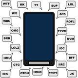 Texting ilustração stock