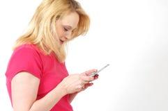 Texting photo libre de droits