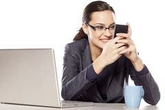 Texting adiction Stock Photography