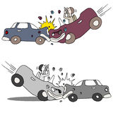 Texting Car Accident Royalty Free Stock Image