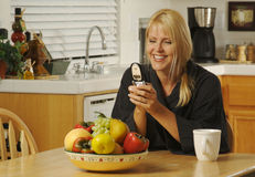 Texting with Cell Phone Stock Photography