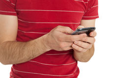Texting Closeup Royalty Free Stock Photography