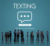 Texting Communication Online Conversation Concept Stock Photo