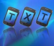 Texting concept. Stock Photo