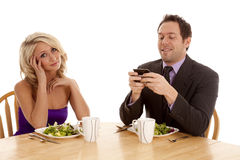 Texting on date Royalty Free Stock Images