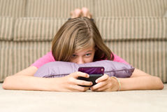 Texting de l'adolescence Photos stock