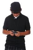 Texting de l'adolescence Image libre de droits