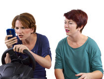 Texting and Driving Stock Images