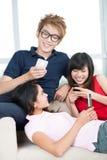 Texting ensemble Photo stock