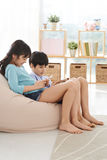 Texting kids Stock Photo