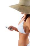 texting kvinna arkivbild