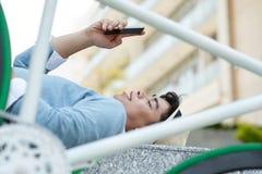 Texting man Stock Photography