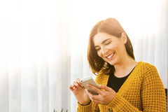 Texting a message Royalty Free Stock Image