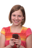 Texting on phone Royalty Free Stock Photography