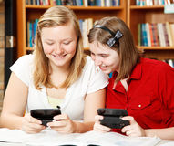 Texting in School Royalty Free Stock Image
