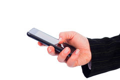Texting on Smartphone Stock Images