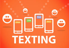 Texting on smartphone Stock Photography
