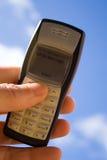 Texting su un cielo blu Immagini Stock Libere da Diritti