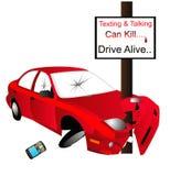 Texting and talking can Kill...  say No..... Stock Photo