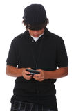 Texting teenager Immagine Stock Libera da Diritti