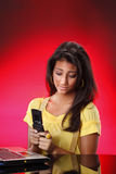 Texting teens Stock Photos